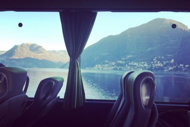 Vista dal finestrino del bus per Bregenz.