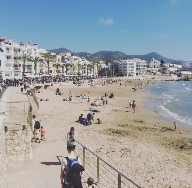Spiaggia di Sitges, Spagna.