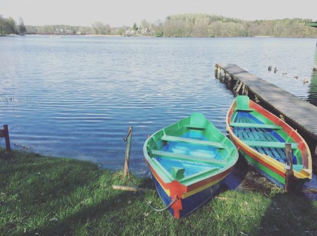 Barche lago Galve Trakai, Lituania, Lithuania.