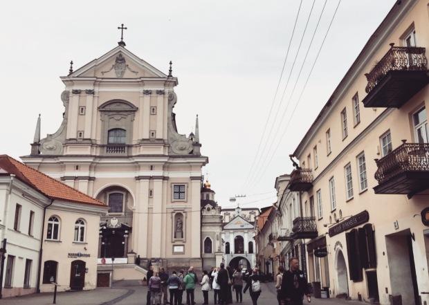 Chiesa di santa Teresa porta dell'Aurora Vilnius, Lituania, Lithuania