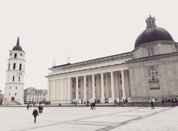 Piazza della cattedrale, Vilnius, Lituania, Lithuania.