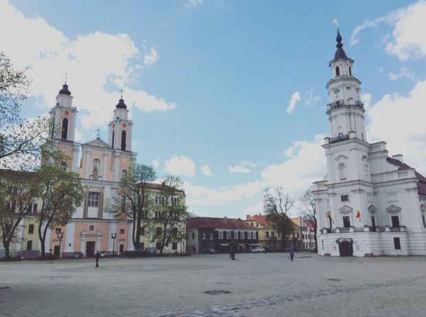Piazza del Municipio, Kaunas, chiesa di St. Francis Xavier, Lituania, Lietuva
