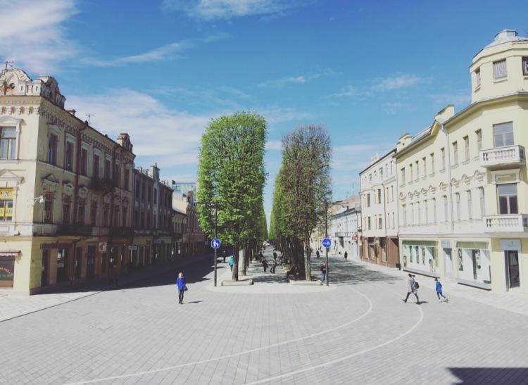 Laisves aleja (Liberty Boulevard), Kaunas, Lituania, Lietuva