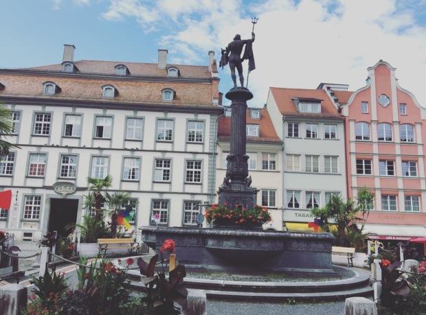 Piazza del mercato Lindau, marketsquare, Germany, Germania, Deutschland, Bavaria, Baviera
