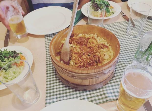Kasspatzln, gnocchetti al formaggio, austrian food