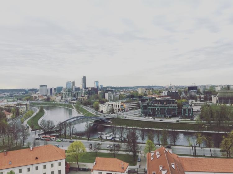 Vilnius da Gedimina's Tower, Lituania, Lietuva, Gedimina