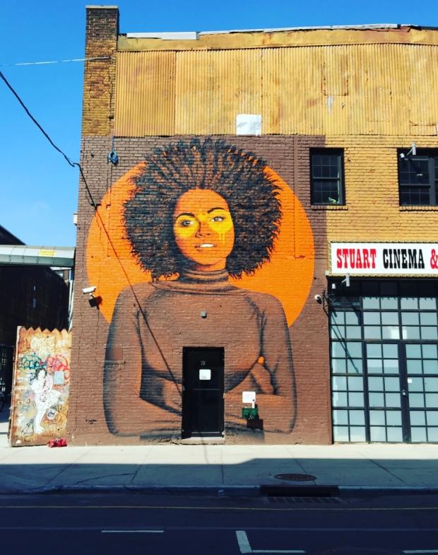 Murales a Williamsburg, Brooklyn, New York.