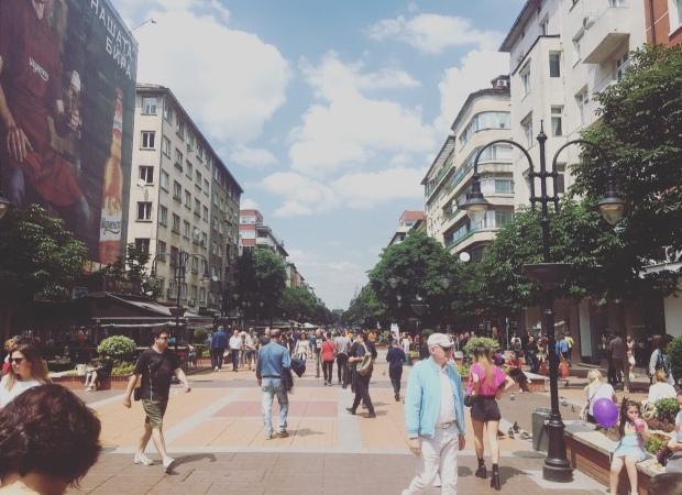 Vitosha Boulevard, Sofia, Bulgaria.