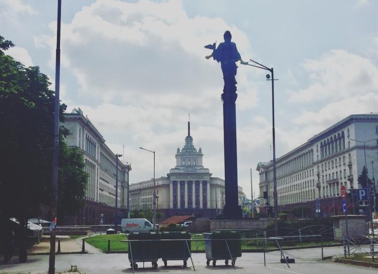Statua di Santa Sofia, Sofia, Bulgaria.