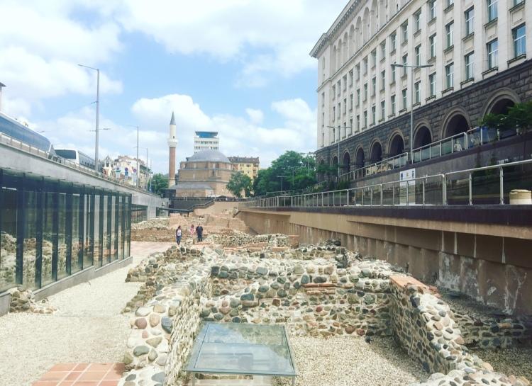 Resti dell'antica Serdica, Sofia, Bulgaria.