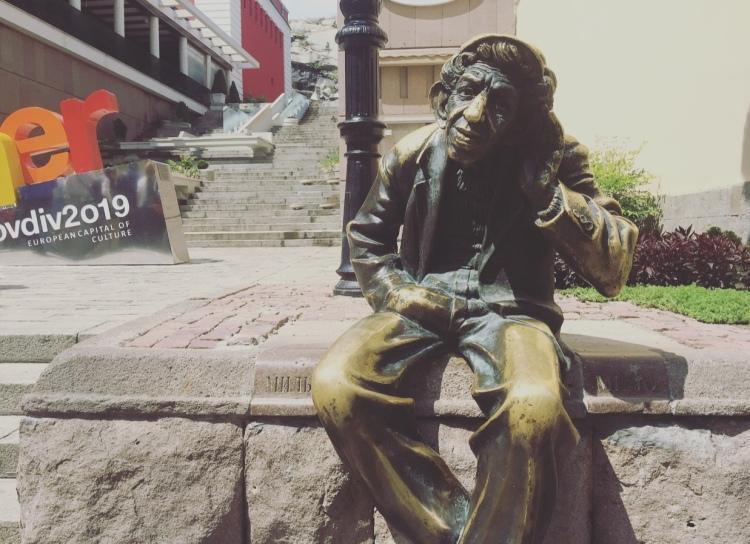 Statua di Milyo il pazzo, Plovdiv, Bulgaria.