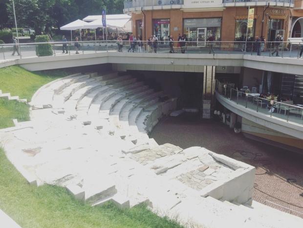 Antico stadio romani, Plovdiv, Bulgaria.