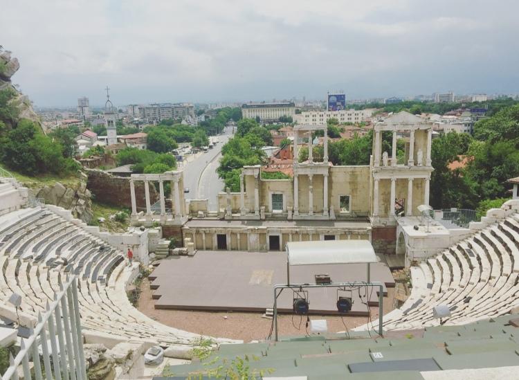 Anfiteatro romano, Plovdiv, Bulgaria.