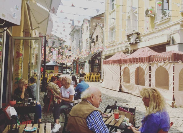 Quartiere Kapana, Plovdiv, Bulgaria.