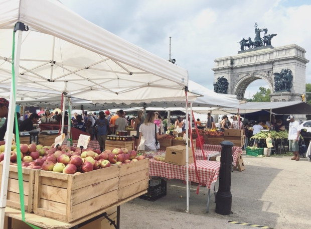 Grand Army Plaza green market, Brooklyn, New York.