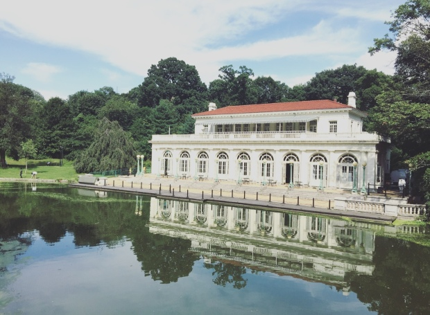 Boathouse, Prospect park, Brooklyn, New York.