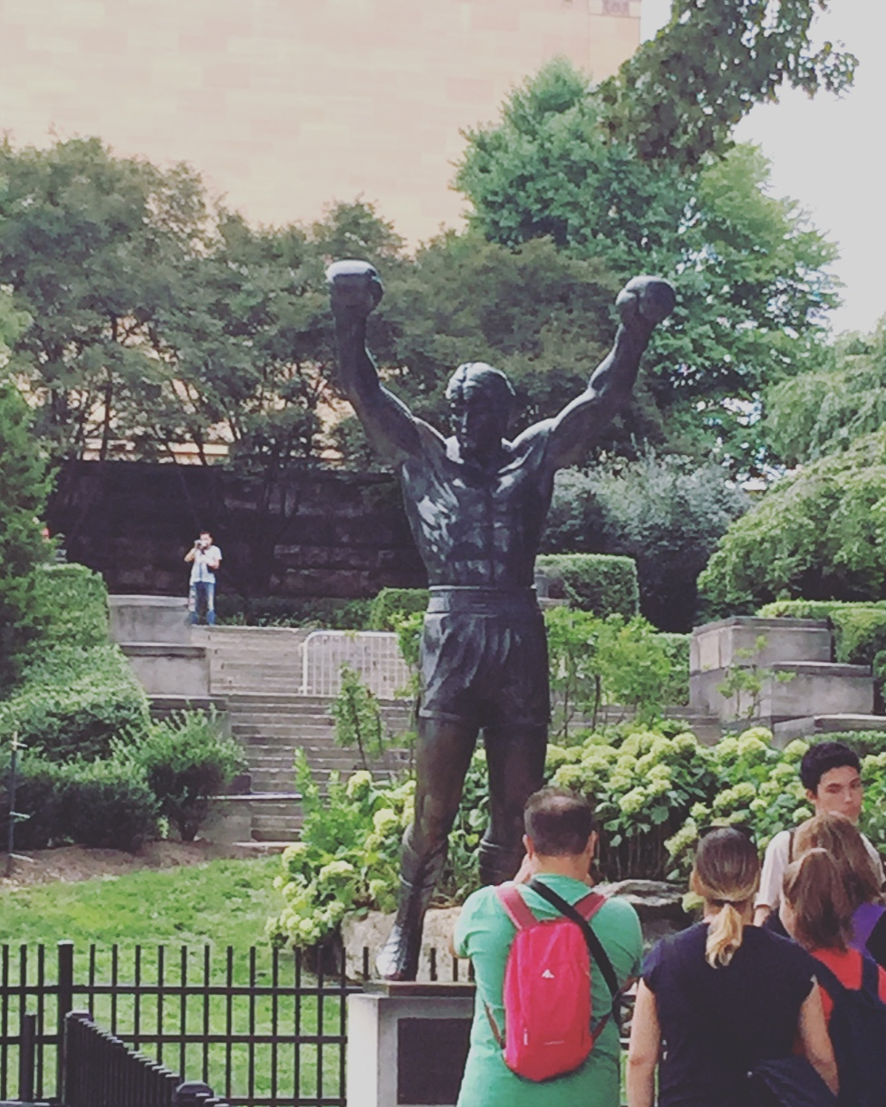 Statua di Rocky, Philadelphia Museum of Art, Philadelphia, Pennsylvania, Stati Uniti.