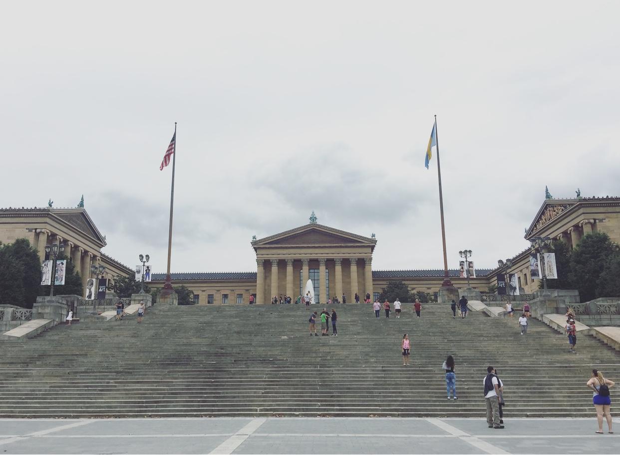 Scalinata di Rocky, Philadelphia Museum of Art, Philadelphia, Pennsylvania, Stati Uniti.