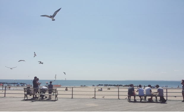 Lungomare, Coney Island, New York, Stati Uniti.
