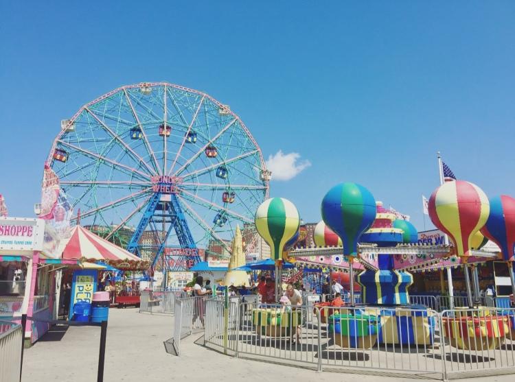 Luna Park, Coney Island, New York, Stati Uniti.