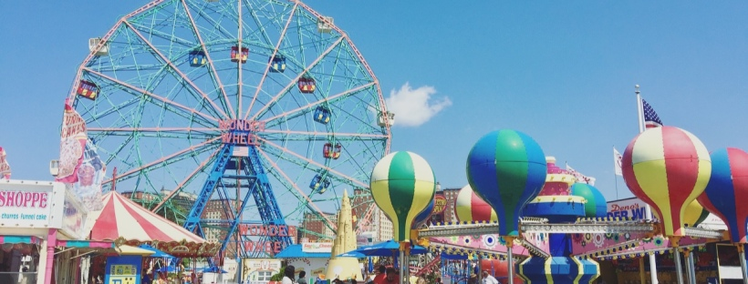 Luna Park, Coney Island, New York, Stati Uniti.