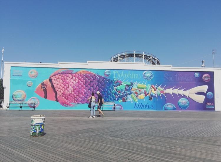 Murales, Coney Island, New York, Stati Uniti.