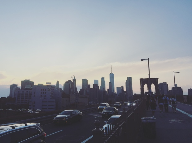 Ponte di Brooklyn, Manhattan, New York, Stati Uniti.