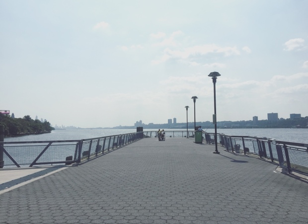 West Harlem Piers Park, Manhattan, New York, Stati Uniti.