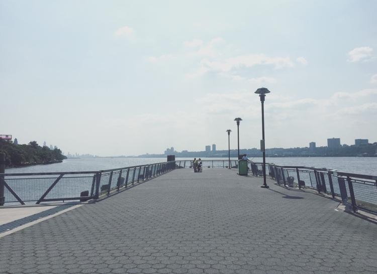 West Harlem Piers Park, Manhattan, New York, Stati Uniti.