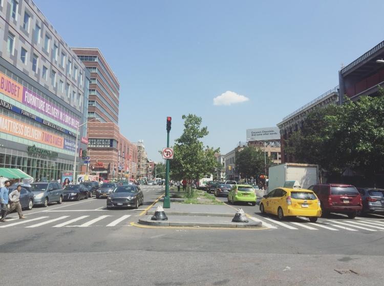 Malcom X Boulevard, Harlem, Manhattan, New York, Stati Uniti.