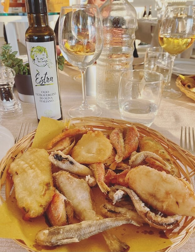 Toscana, Maremma, fritto misto di paranza.