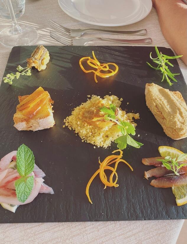 Toscana, Maremma, cena di pesce.