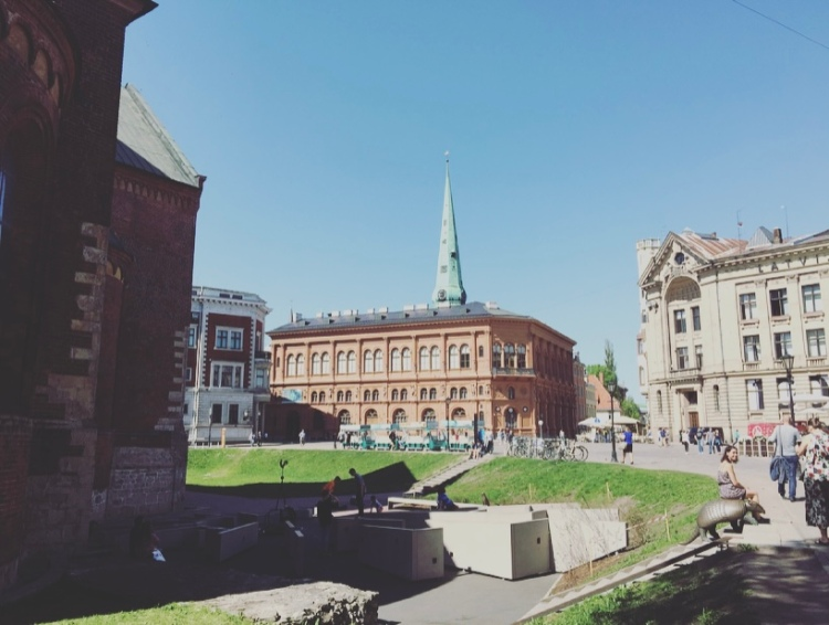 Riga, piazza del Duomo.