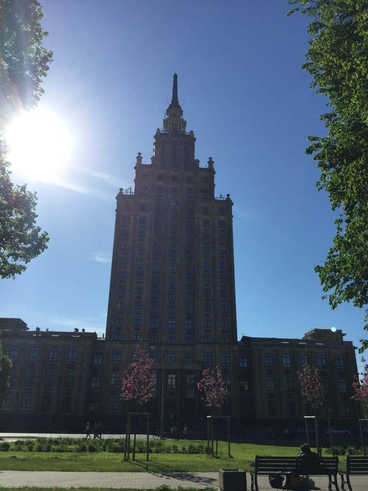 Lettonia, Riga, Palazzo dell'Accademia lettone delle scienze.