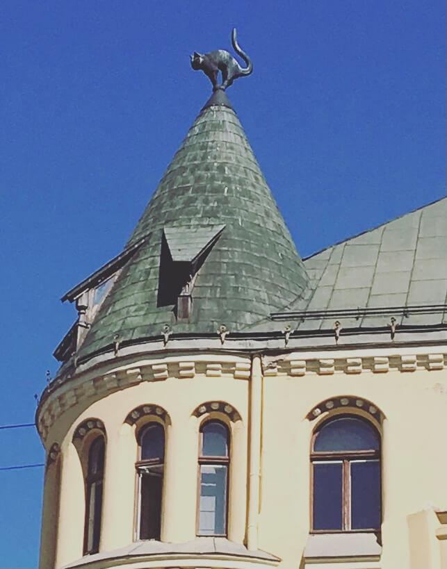 Lettonia, Riga, casa del gatto.