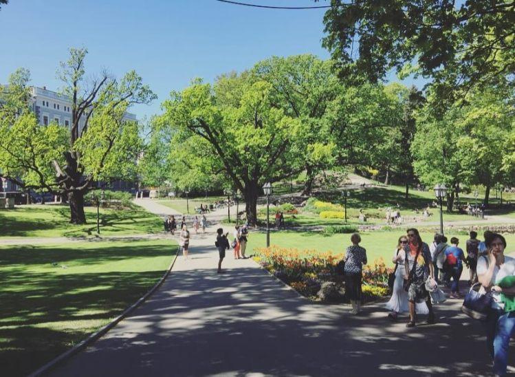 Lettonia, Riga, parco della collina del bastione..