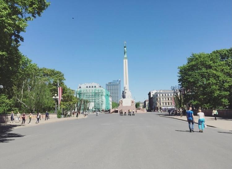 Lettonia, Riga, Monumento alla Libertà.