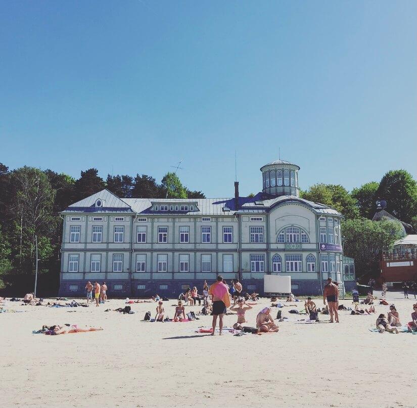 Lettonia, Jurmala, mar Baltico, Majori beach, Emilia Racene.