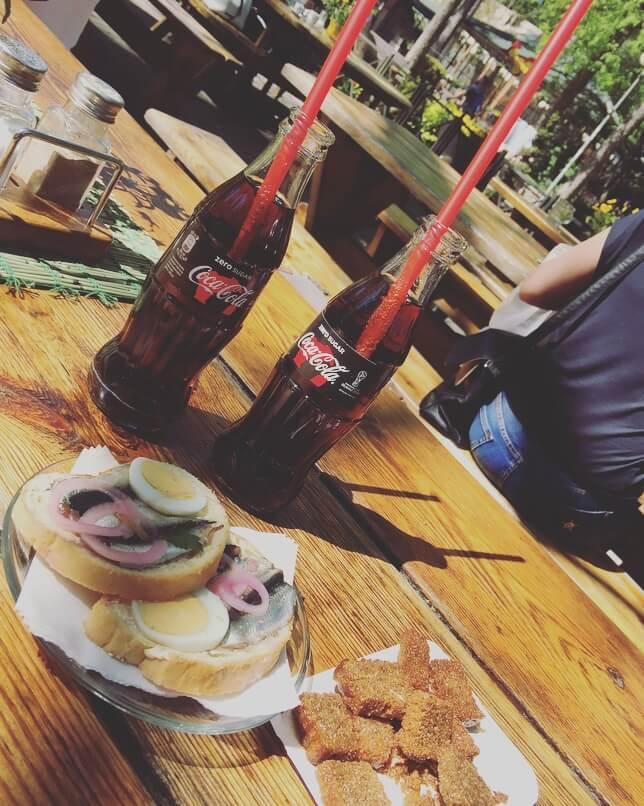 Lettonia, Jurmala, snack.