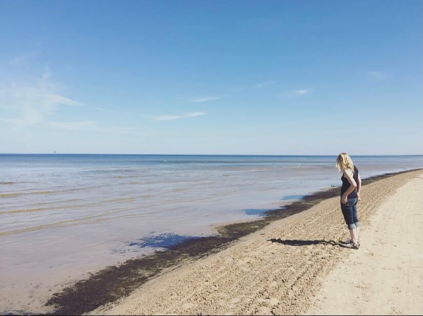 Lettonia, mar baltico, Jurmala, spaggia.