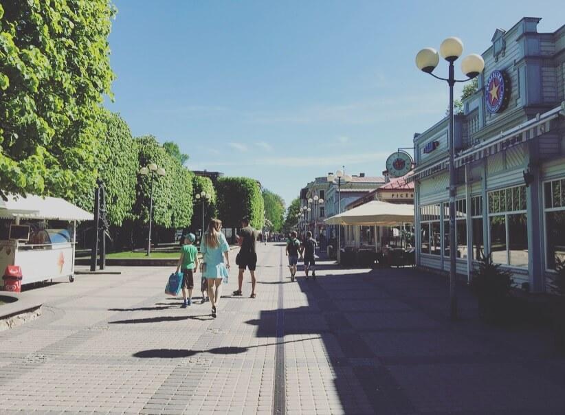 Lettonia, Jurmala, Jomas street.