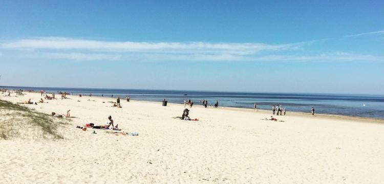 Lettonia, mar baltico, Jurmala, Majori beach, spiaggia..