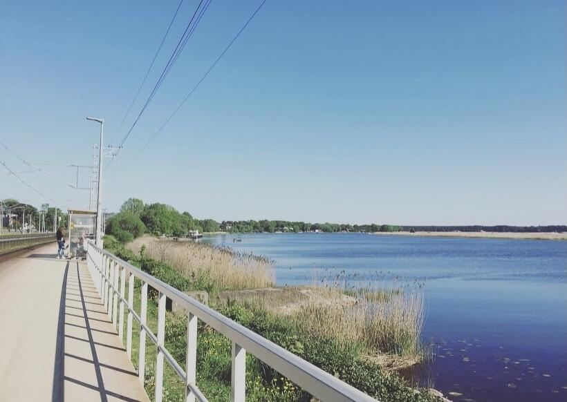Lettonia, mar baltico, Jurmala, stazione di Majori beach.