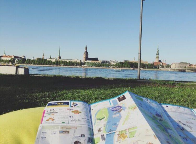 Lettonia, Riga, fiume Daugava.