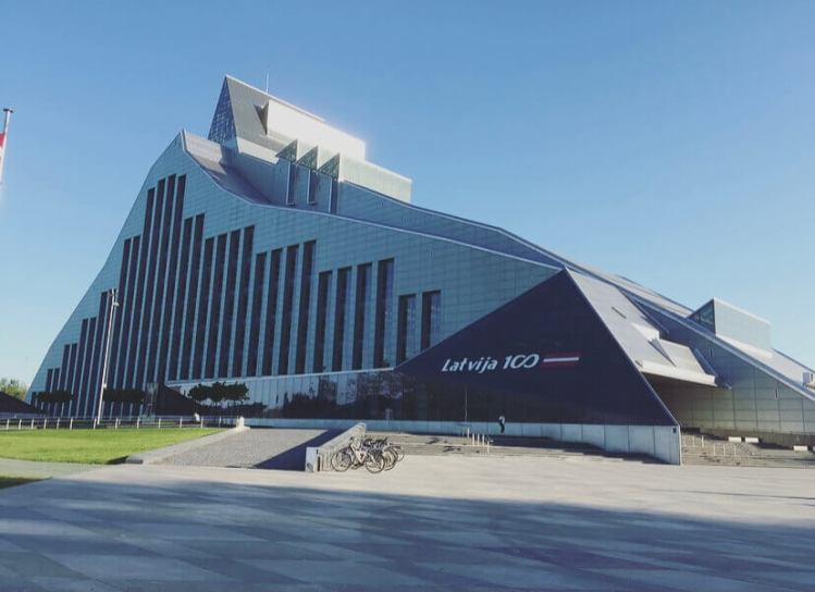 Lettonia, Riga, Biblioteca nazionale.